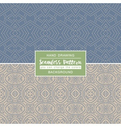 Grey backgrounds with seamless patterns vector