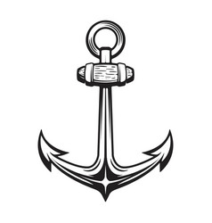 Vintage anchor isolated on white vector