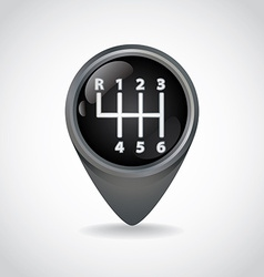 Gearshift vector image