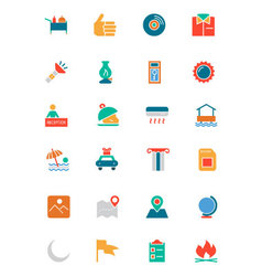 Hotel and Restaurant Colored Icons 10 vector image