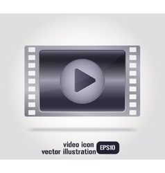 Video icon film strip - vector