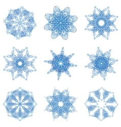 Abstract christmas snowflake vector