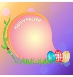 Postcard happy easter vector