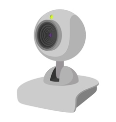 Computer web cam cartoon icon vector