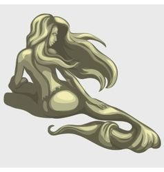 Mermaid sculpture on the back vector
