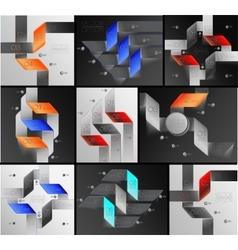 arrows lines infographics set vector image vector image