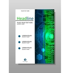 Book cover design A4 HUD vector image vector image