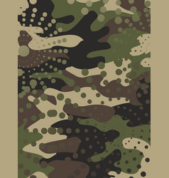 Camouflage and halftone pattern background mask vector
