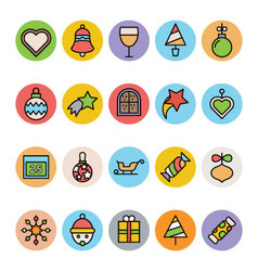 Christmas icons 7 vector