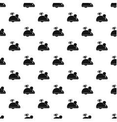 Clockwork mouse pattern vector