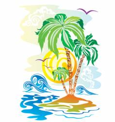 color island vector image vector image