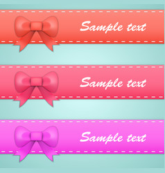 Colored ribbons with bows and tails vector