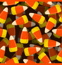 corn candy seamless pattern 3d sweets texture vector image