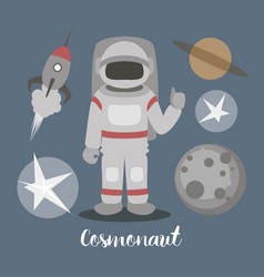 Cosmonaut isolated vector