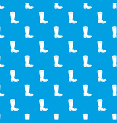 cowboy boot pattern seamless blue vector image vector image