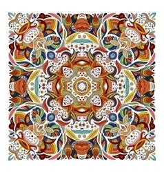 Design for square pocket shawl textile vector