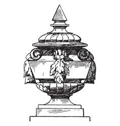 Finial modern french vase or doorposts vintage vector