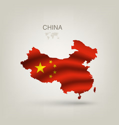 Flag of China as a country vector image vector image
