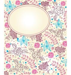 Flower vintage frame vector image vector image