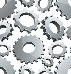 Gears seamless background vector image vector image