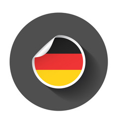 Germany sticker with flag with long shadow vector