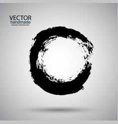 hand drawn circle shape label logo design vector image