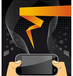 Hands holding a smart phone vector image vector image