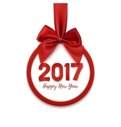 Happy New Year 2017 round banner vector image vector image