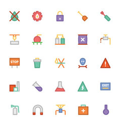 Industrial colored icons 6 vector