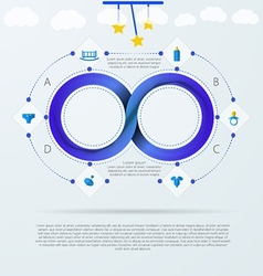 Infographic for baby things store with mobius vector