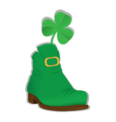 Irish elf shoe vector