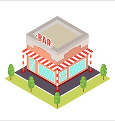 Isometric restaurant icon vector