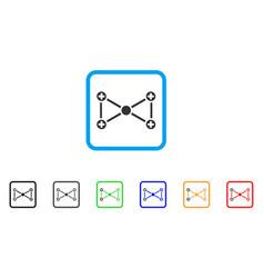 medical nodes framed icon vector image