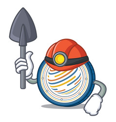 Miner factom coin mascot cartoon vector