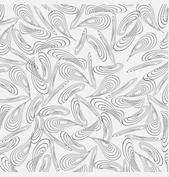 monochrome background from chaotically curved vector image vector image