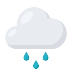 Rain icon with cloud vector