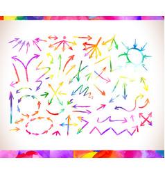Rainbow colors arrow collectio vector