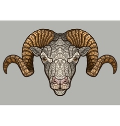 Ram head mascot vector