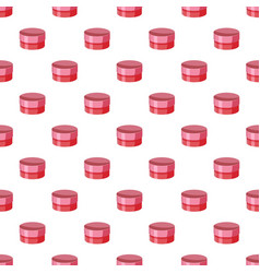 Round cardboard box pattern vector