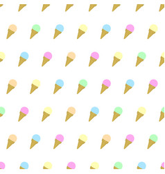 Seamless pattern colored ice cream background vector