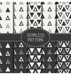 Set of line polygon abstract hipster seamless vector image vector image