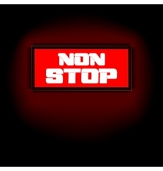 sign that says non-stop vector image