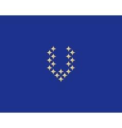 Stars letter V logotype Luxury abc icon vector image vector image