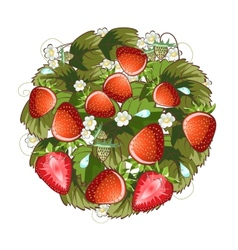 Strawberry ring vector