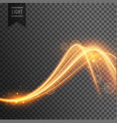 Stylish light effect in wave style vector