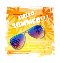 Summer glasses background vector