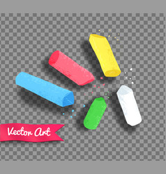 pieces of chalk vector image