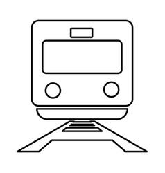 Train black color icon vector