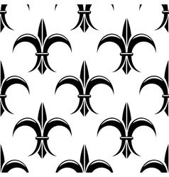 Black and white fleur de lys seamless pattern vector
