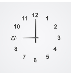 Football clock 2 vector
